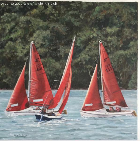 Squibs sailing off Woodside